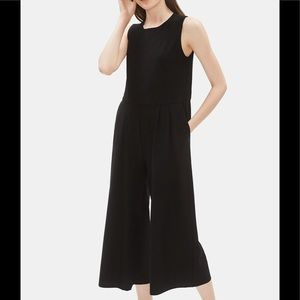 Eileen Fisher silk Charmeuse XL black Jump Suit